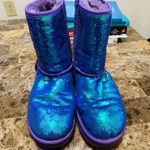 Blue and Purple Sequin UGG Australia Boots